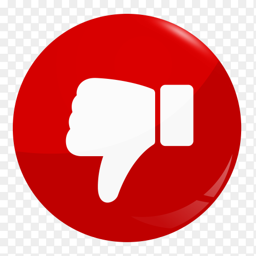 Unlike icon design on transparent background PNG