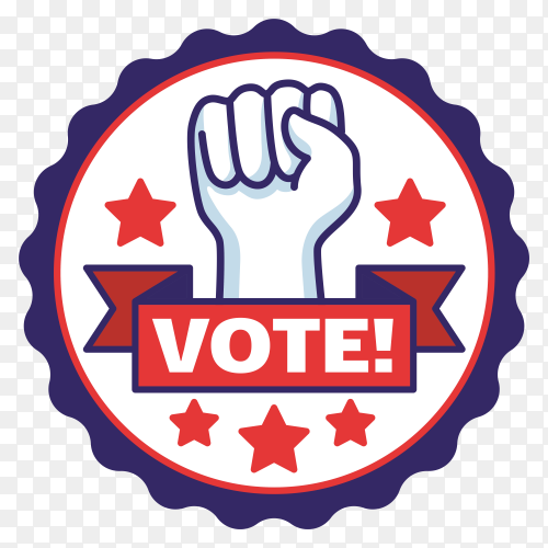 Usa voting badge Illustration on transparent background PNG