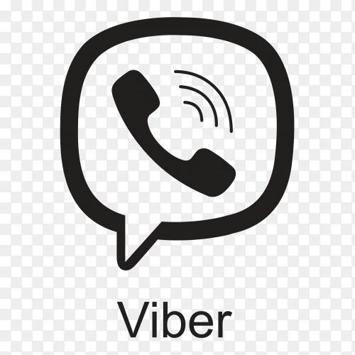 Viber icon design on transparent background PNG