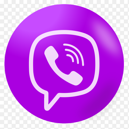 Viber logo on transparent background PNG