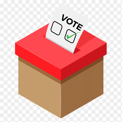 View election box on transparent background PNG
