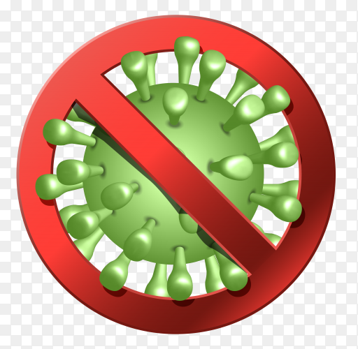 Virus corona illustration on transparent background PNG
