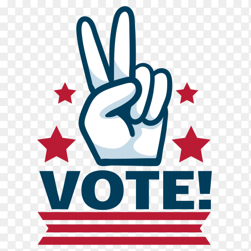 Vote Badge For Elections In Usa on transparent PNG