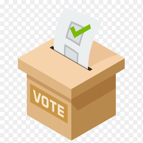 Voting box illustration on transparent background PNG