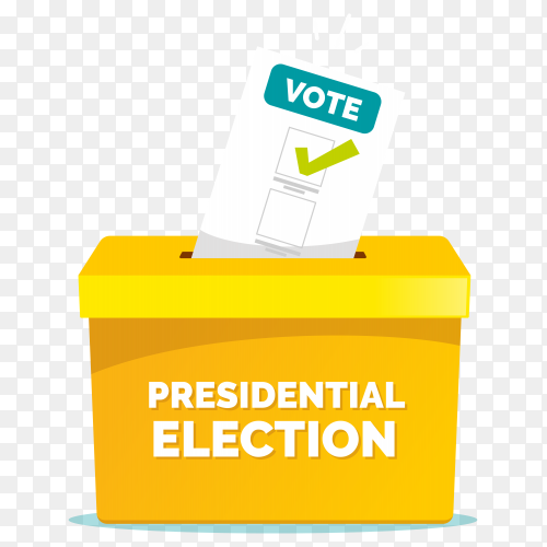 Voting election concept on transparent background PNG