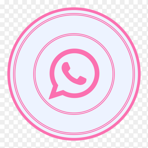 Whatsapp icon with pink color on transparent background PNG