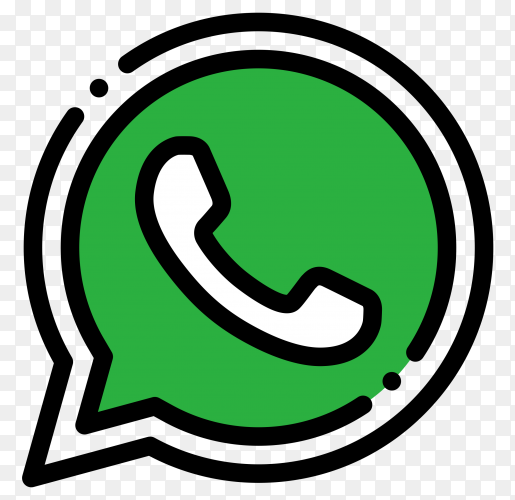 Whatsapp logo design on transparent background PNG
