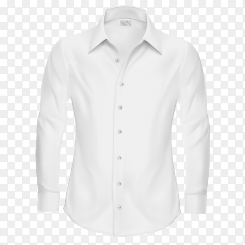 White shirt isolated on transparent background PNG