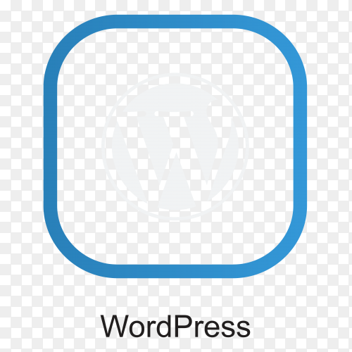 WordPress icon design on transparent background PNG
