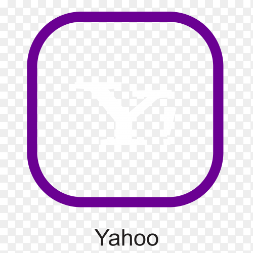 Yahoo icon design illustration on transparent background PNG