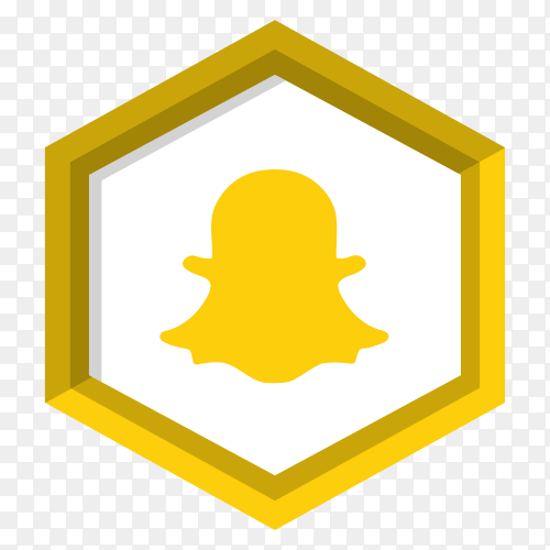 Yellow snapchat icon design premium vector PNG