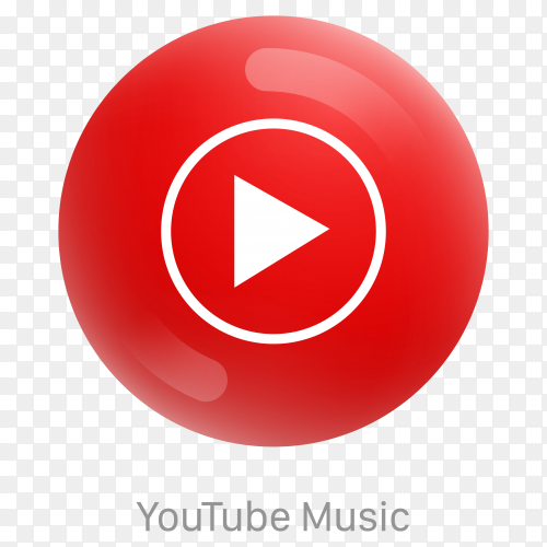 Youtube music icon design premium vector PNG