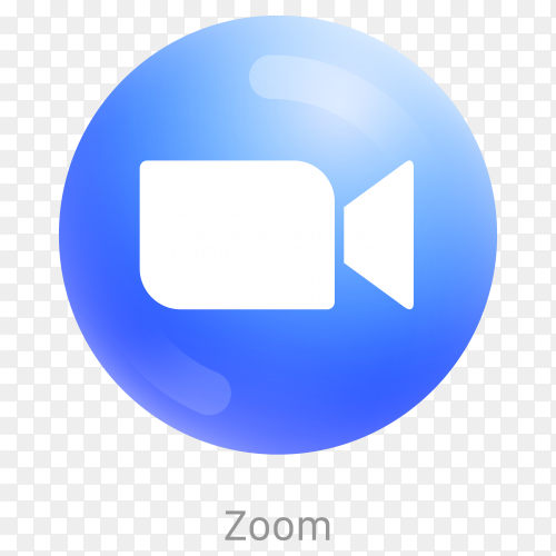 Zoom icon design with blue color on transparent background PNG
