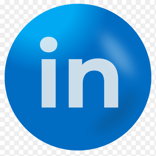 linkedin logo design on transparent background PNG