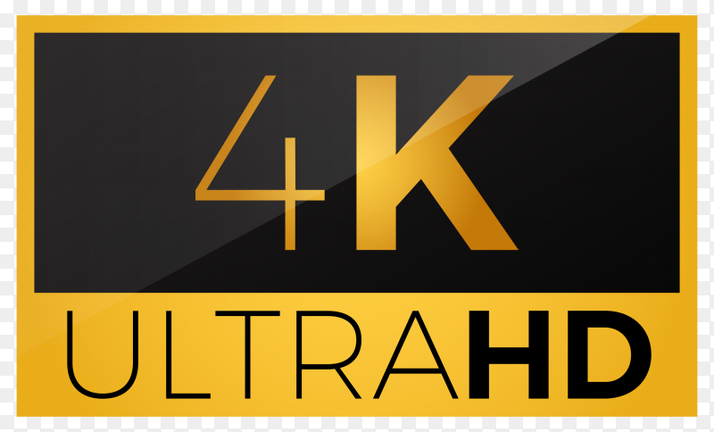 4k ultra hd icon on transparent background PNG