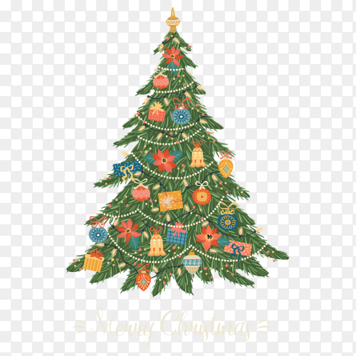 A beautiful Christmas tree premium vector PNG