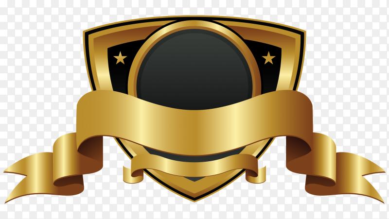 Abstaract golden badge or label premium vector PNG