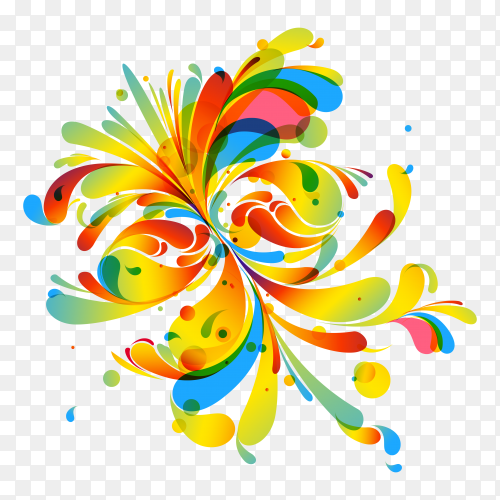 Abstract Art Color premium vector PNG