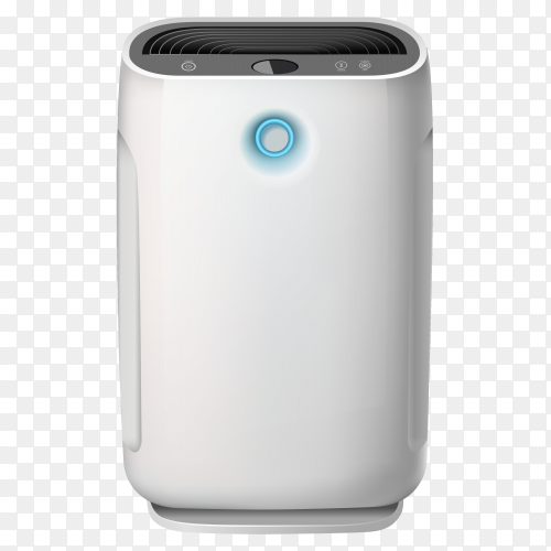 Air purifier and humidifying device for the house on transparent background PNG