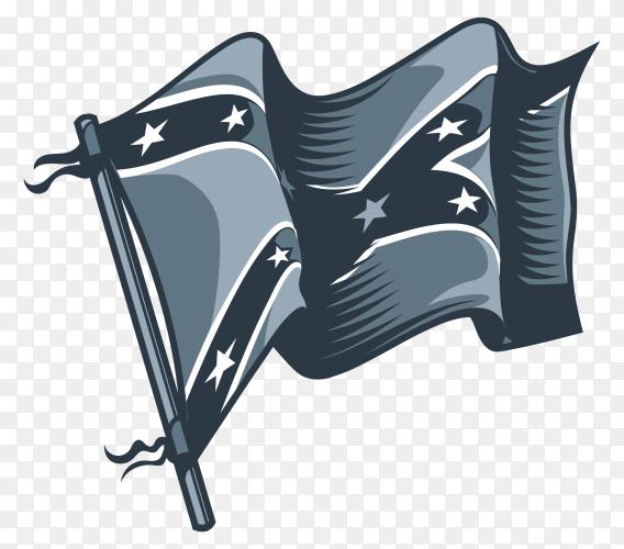 American flag premium vector PNG