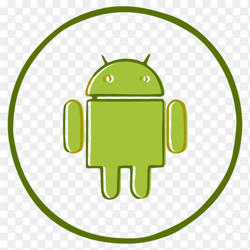 Android logo design on transparent PNG