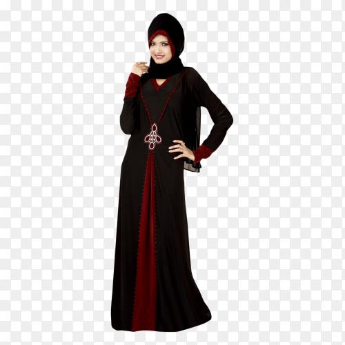 Arabic Muslim woman on transparent PNG