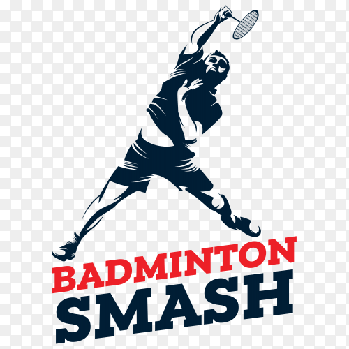 Badminton logo on transparent background PNG