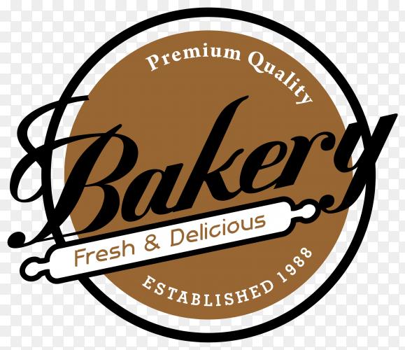 Bakery logo illustration on transparent background PNG