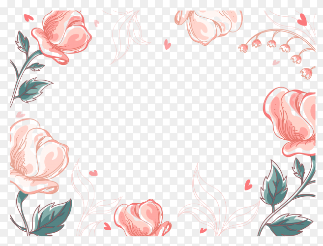 Beautiful flowers decorated on transparent background PNG