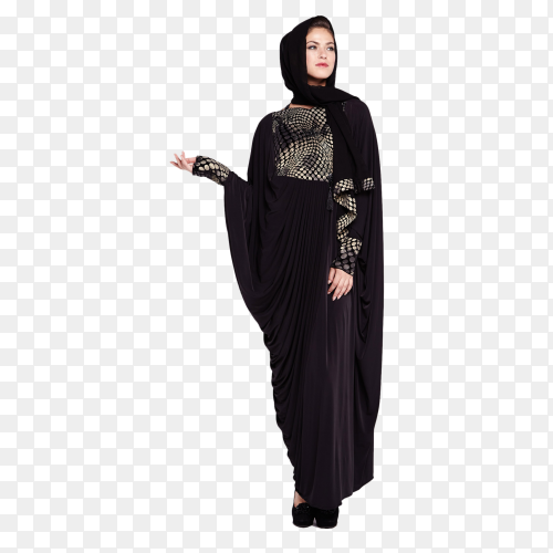Beautiful Muslim woman on transparent background PNG