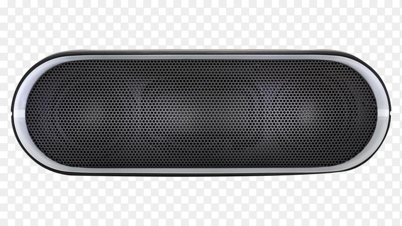 Black Bluetooth speaker with lights  premium vector PNG