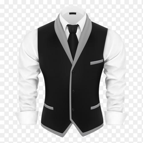 Black business man suit premium vector PNG