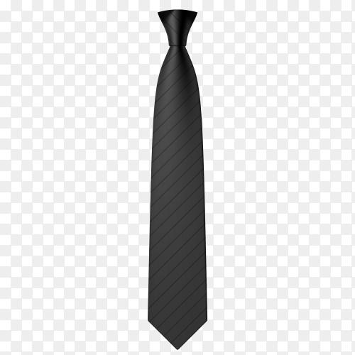 Black tie illustration on transparent background PNG