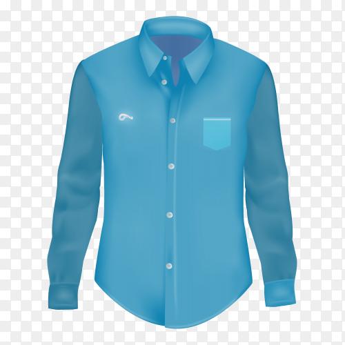 Blue Mens shirt on transparent background PNG