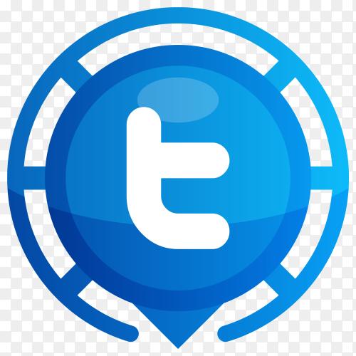 Blue Tumblr logo on transparent PNG
