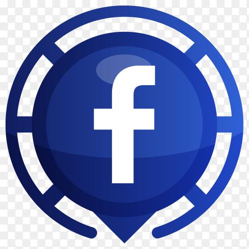Blue Facebook logo premium vector PNG