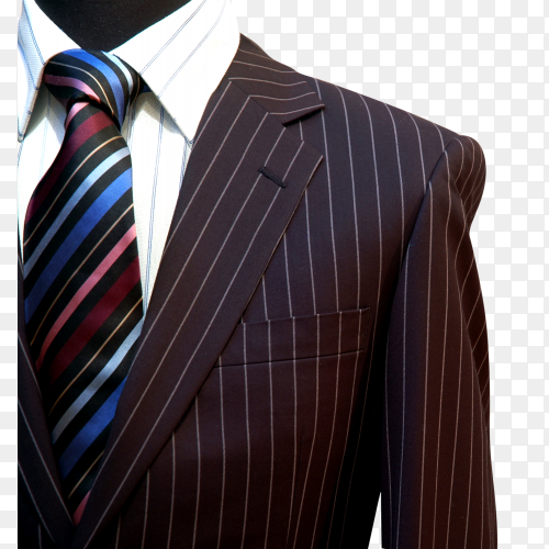Brown suit on transparent background PNG
