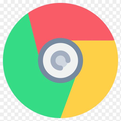 Browser chrome internet logo design on transparent background PNG