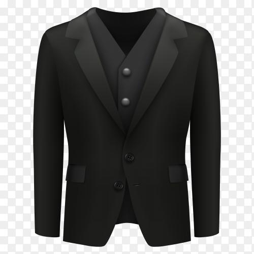 Business men clothing suit on transparent PNG