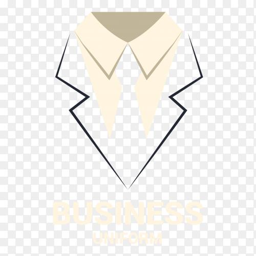 Business uniform logo on transparent background PNG
