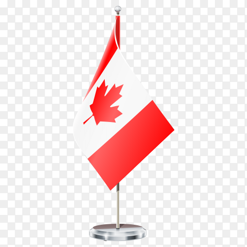 Canada flag isolated on transparent background PNG