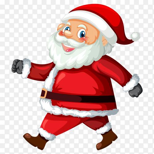 Cartoon santa claus premium vector PNG