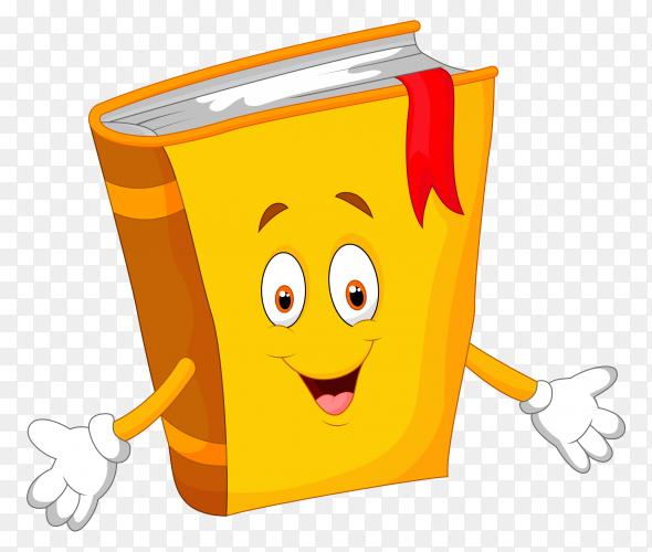 Cartoon yellow book illustration premium vector PNG