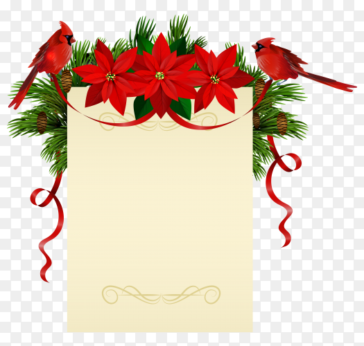 Christmas decorations on transparent background PNG