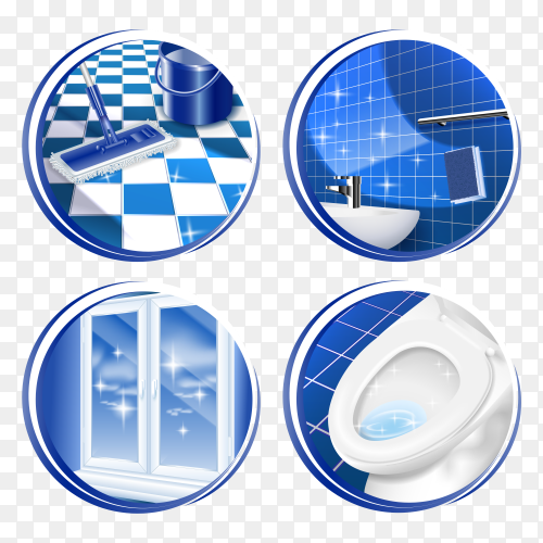 Cleaning house surface icon on transparent background PNG