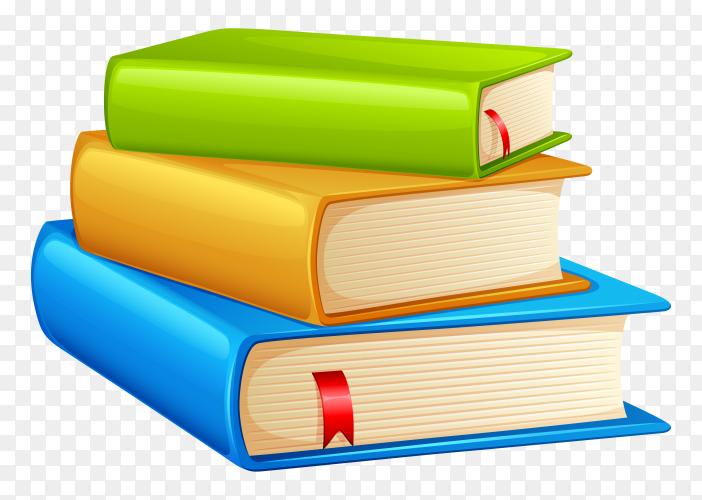 Colorful book illustration on transparent background PNG