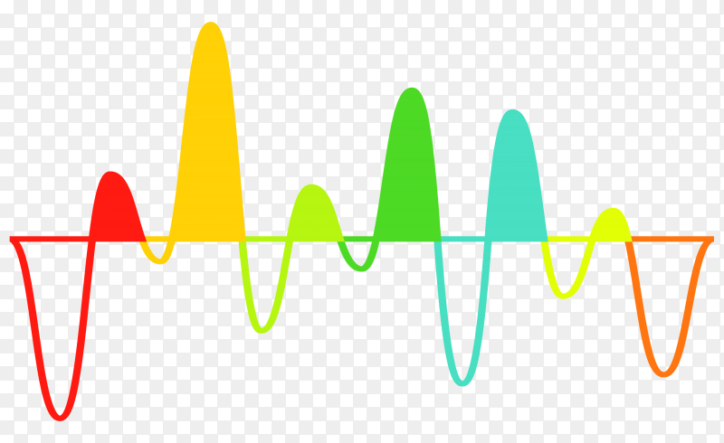 Colorful sound wave music equalizer on transparent background PNG