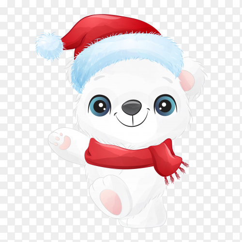 Cute cartoon snowman isolated on transparent background PNG
