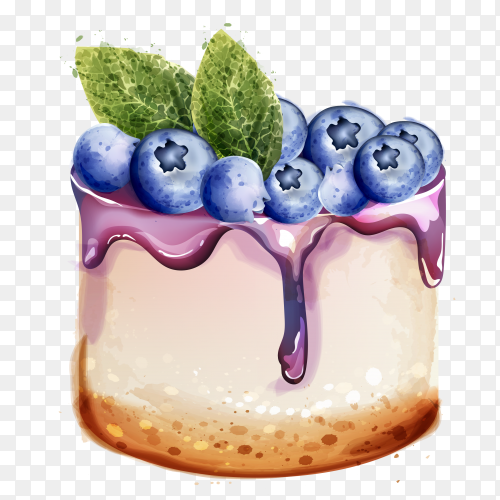 Delicious cake illustration on transparent background PNG