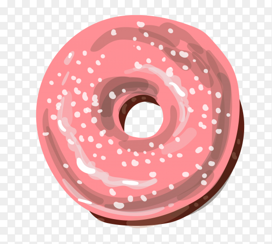 Delicious dount on transparent background PNG